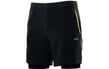Asics Men's 2in1 Short 9 Zoll performance black/safety yellow